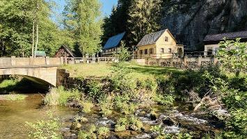 Foto die Neumannmühle im Kirnitzschtal
