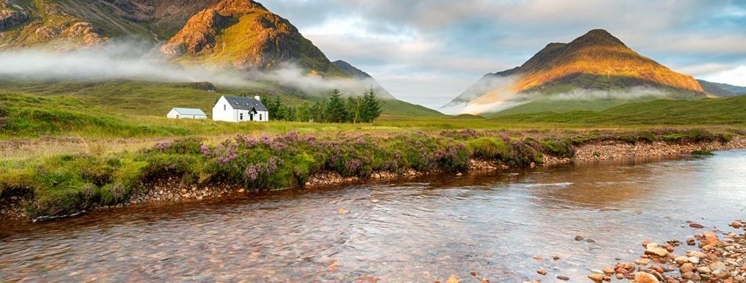 Lagangarbh Cottage and the Buachaille Etive Mor