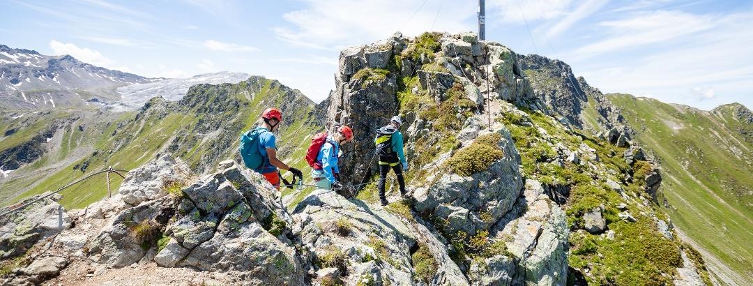 Gipfel VAUDE Klettersteig Gargellner Köpfe