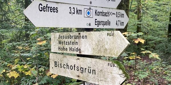 Wegkreuzung bei Kornbach