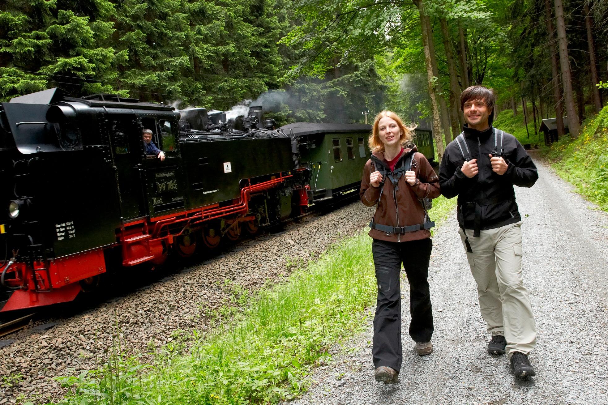 Fichtelbergbahn am Kammweg