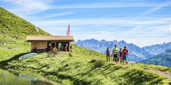 Zustieg zum Klettersteig Kälbersee