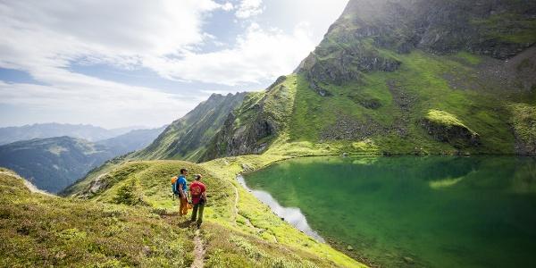 Zustieg zum Klettersteig Hochjoch
