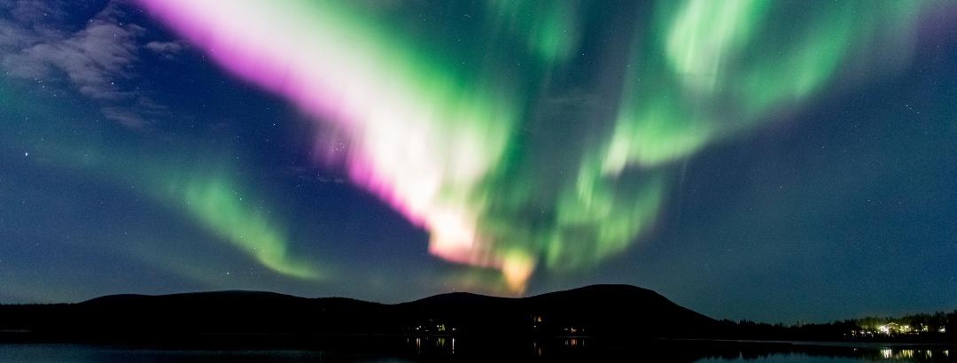Nordlichter über Finnland