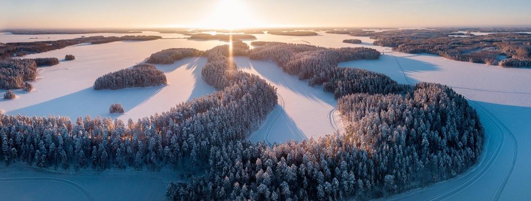 Winterlandschaft in Finnland