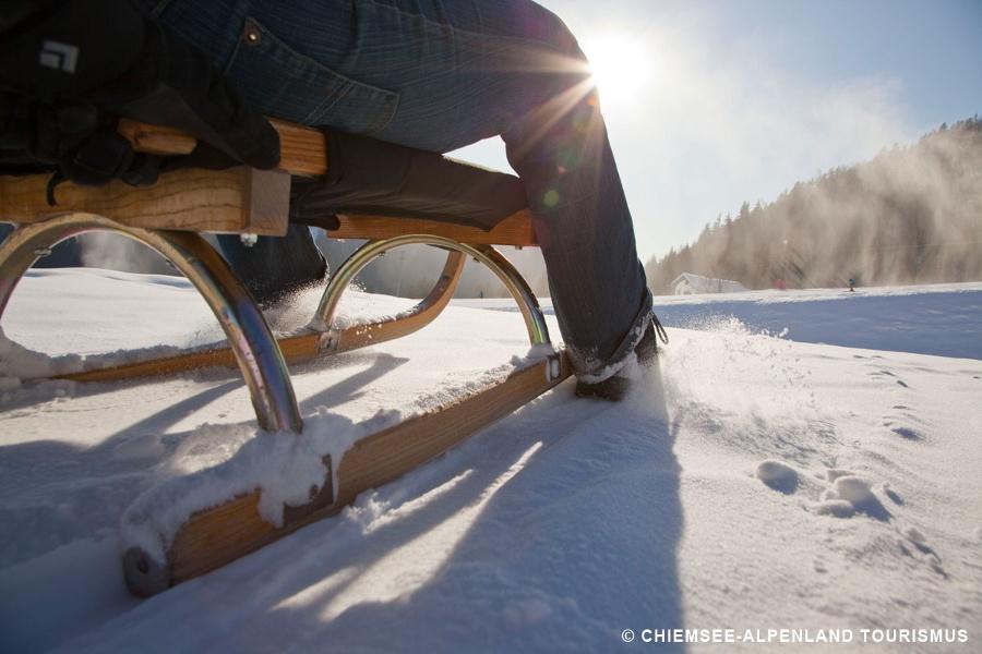 Rodeln von Sachrang aus: Auf die Priener Hütte
