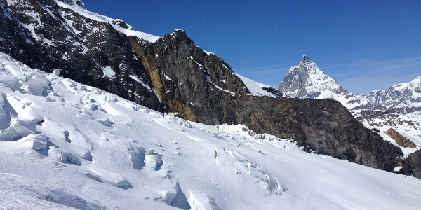 Descent with view of the Matterhorn