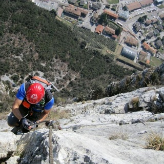 Am Via Ferrata Rino Pisetta.