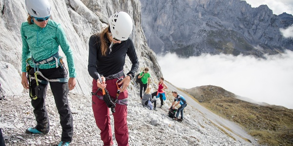 Einstieg Klettersteig Sulzfluh