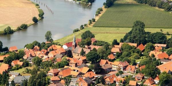 Dörvernden - Weserbogen und Schleusenkanal