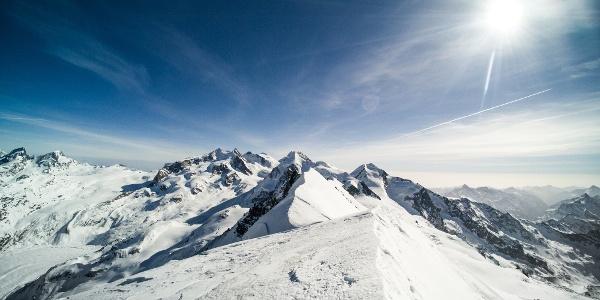 On the summit of Breithorn