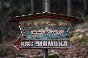 Foto Wegweiser nach Schmilka