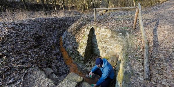 A Felső-Csevice-kútnál