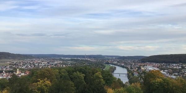Schleifenroute - Blick auf Kehlheim von der Befreiungshalle bei Kehlheim