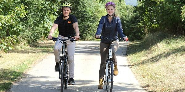 Radfahrer auf der Ith Schleife