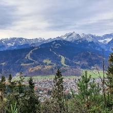 Panorama Zugspitze - Teil des Wetterstein (von Wank Aufstieg aus)