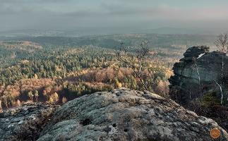 Foto Großer Zschirnstein: Blick im Spätherbst nach Südosten