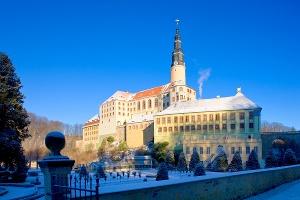 Foto Schloss Weesenstein im Winter