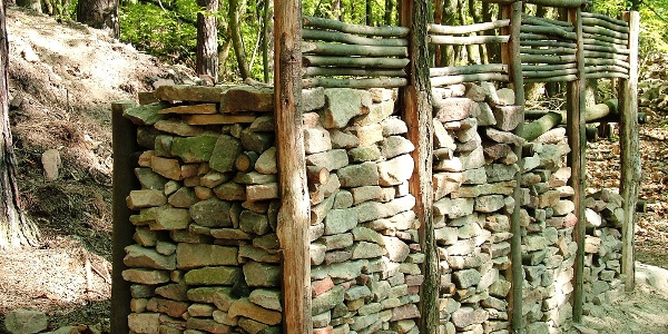Keltischer Ringwall Heidenmauer Pfostenschlitzmauer Modell