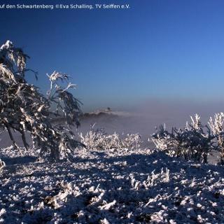 Blick vom Ahornberg auf den Schwartenberg