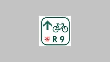 Markierung Hess. Radfernweg R 9