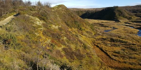 Det spesielle terrenget, preget av siste istid, gjør turen ekstra spennende