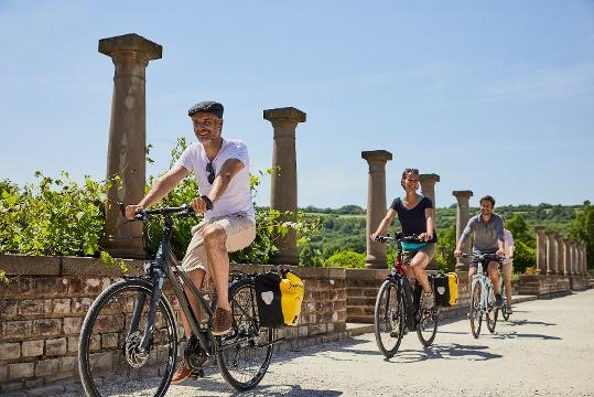 Radfahrer im Europäischen Kulturpark