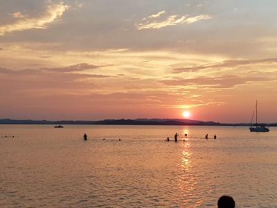 Sonnenuntergang in der Feldwieser Bucht