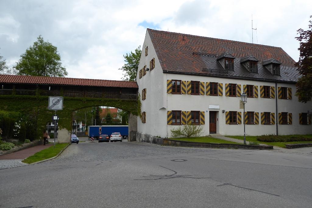 Münzgebäude der Stadt Schongau vor der Restaurierung 2020 (Andreas Klausmann)