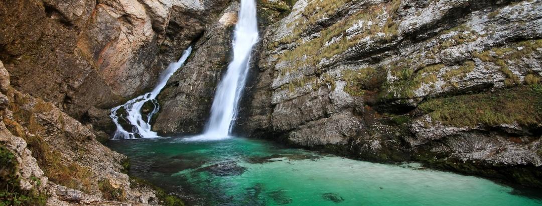 At the waterfall Slap savica