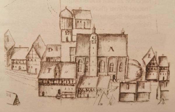 Grundriss des Altenberger Zwitterstockwerkes, Balthasar Rößler Juni 1664