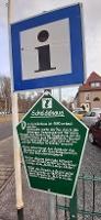 Foto Eine der Informationstafeln auf dem Stadtrundgang am Besucherbergwerk Berggießhübel.