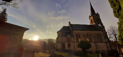 Foto Evangelische Kirche am Kirchberg.