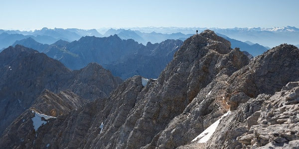 Bergsteiger auf dem Jubiläumsgrat
