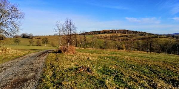 Wandern in die Richtung Sachsenhöhe
