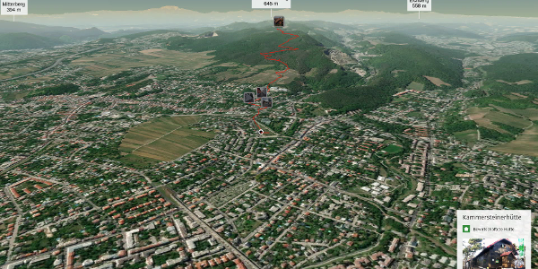 Wanderung im Wienerwald: Zustieg von Wien - Rodaun (Strassenbahnhaltestelle ...