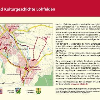 Schild Eco Pfad Kulturgeschichte Lohfelden