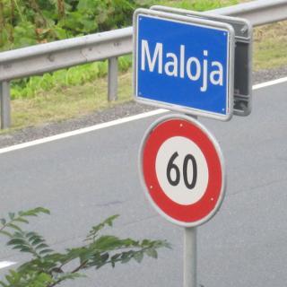 Stadt Maloja- Beginn der tour