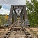 Puente de hierro sobre el rio Duero