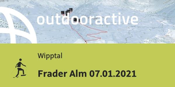 Schneeschuhwanderung im Wipptal: Frader Alm 07.01.2021