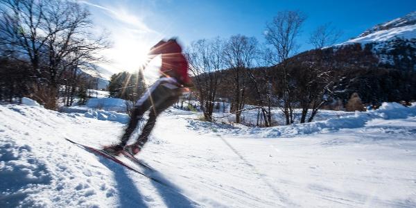 Cross-country skiing around Samedan