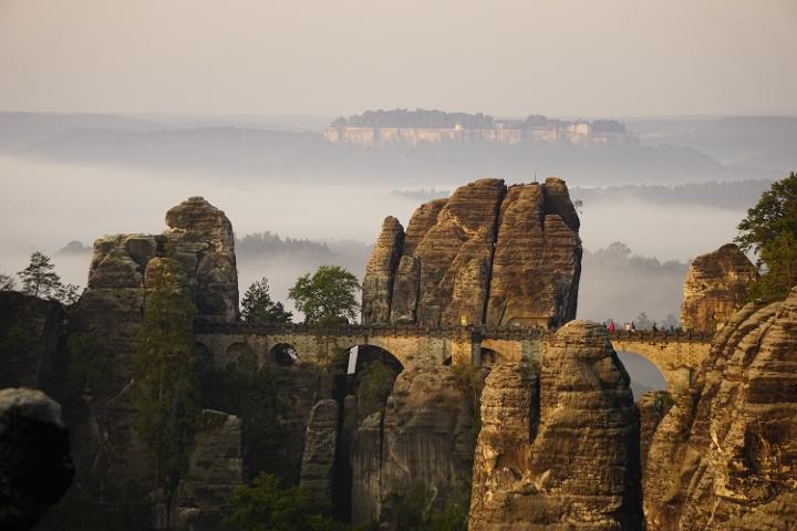 Foto Blick zur Basteibrücke