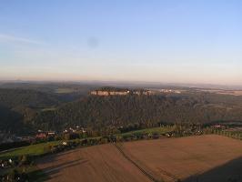 Foto Ausblick zur Festung Königstein