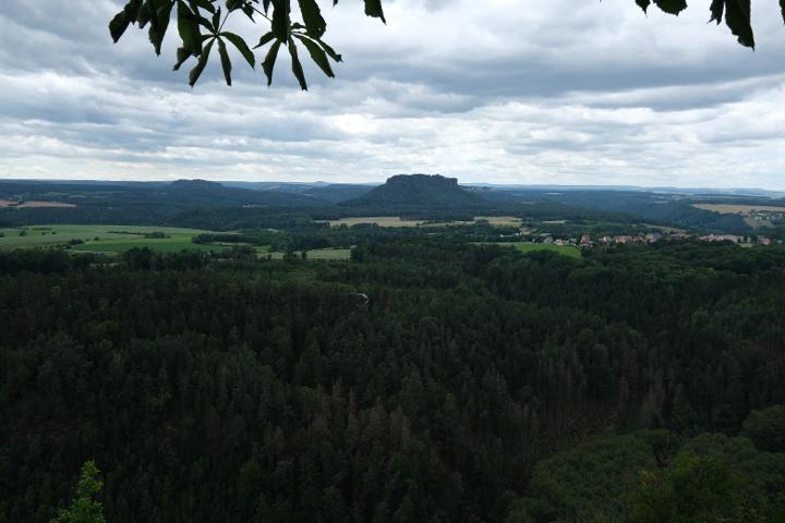 Foto Aussicht vom Brand zum Lilienstein