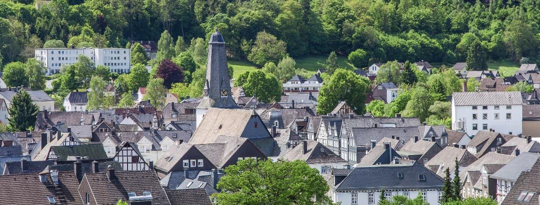 Blick vom Kurpark auf die Altstadt Bad Laasphe