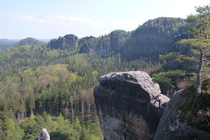 Foto Blick vom Winterstein zum Wintersteinwächter