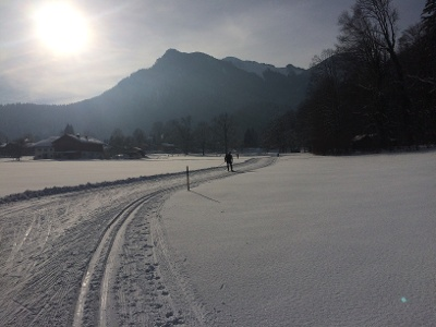 Berwiesen Loipe Richtung Niederfels