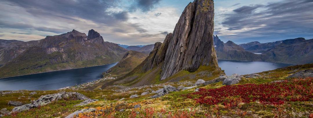 View of Segla in the fall.