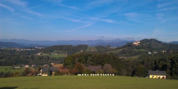 Blick nach Westen - Schloss Plankenwarth