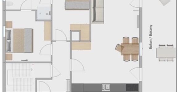Grundriß Apartement Grabi